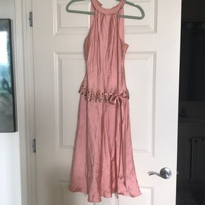 Blush Pink Silk Dress - Anne Klein